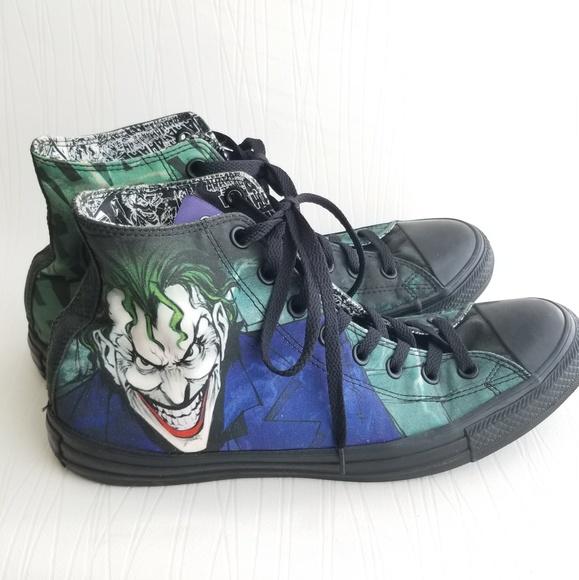 d2560e6a5dab Converse Shoes - FIRM RARE Converse DC comics The Joker high tops